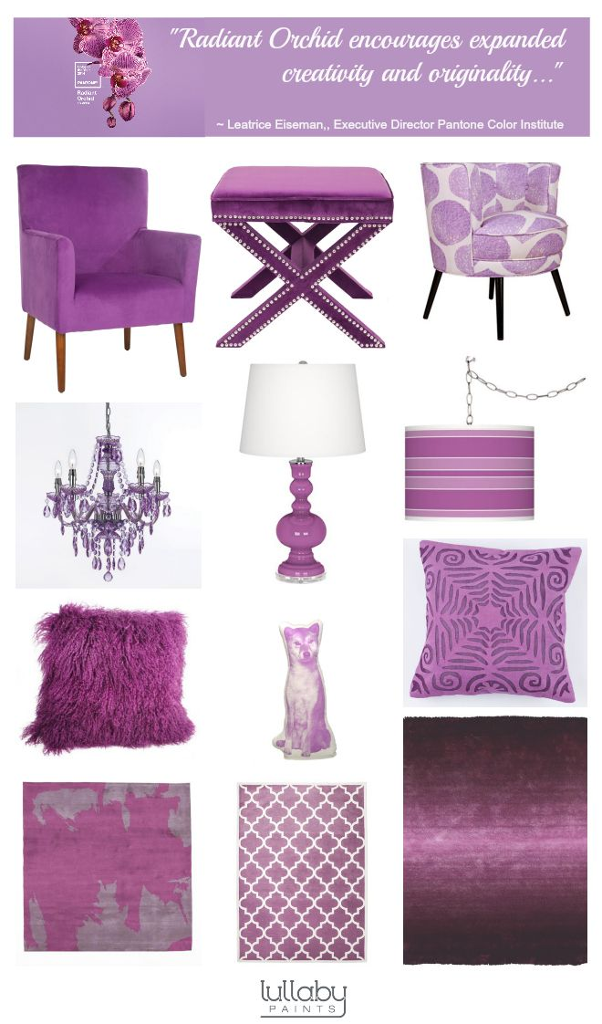 Radiant Orchid Nursery Decor Inspiration - Lullaby Paints