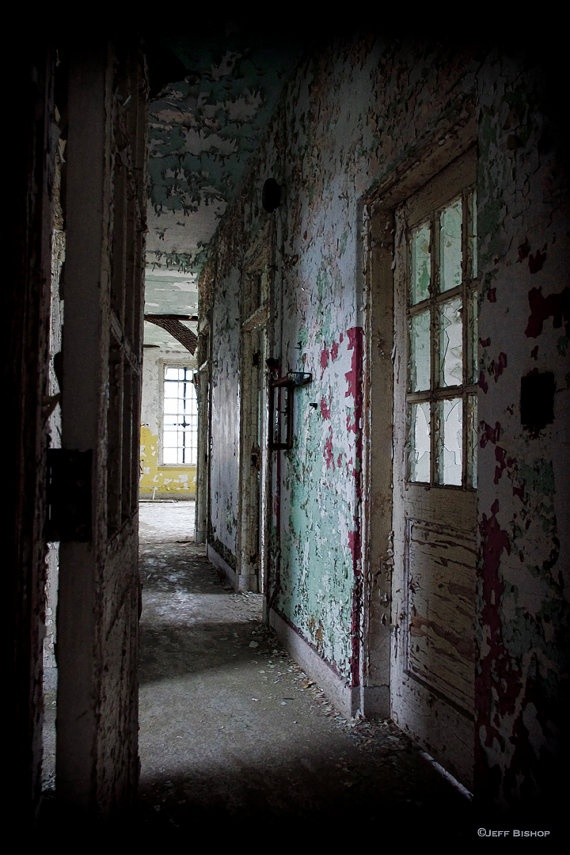 Hallway in an Abandoned by Jeff Bishop PorcelainPro, $29.00