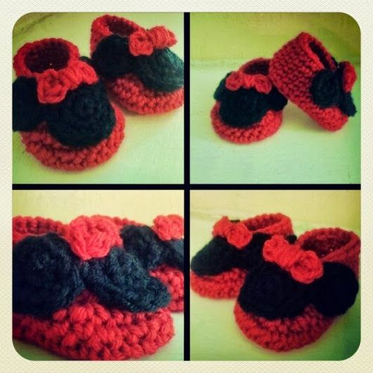 Free Crochet Pattern Minnie Mouse Shoes : 1000+ images about Crocheted & Knitted (Leggings, Booties ...