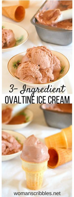 All you need to make this Ovaltine Ice cream are three simple ingredients. It is so creamy, so tasty and so decadent in its malted chocolate flavor. An easy and special ice cream for everyone in your family to enjoy.