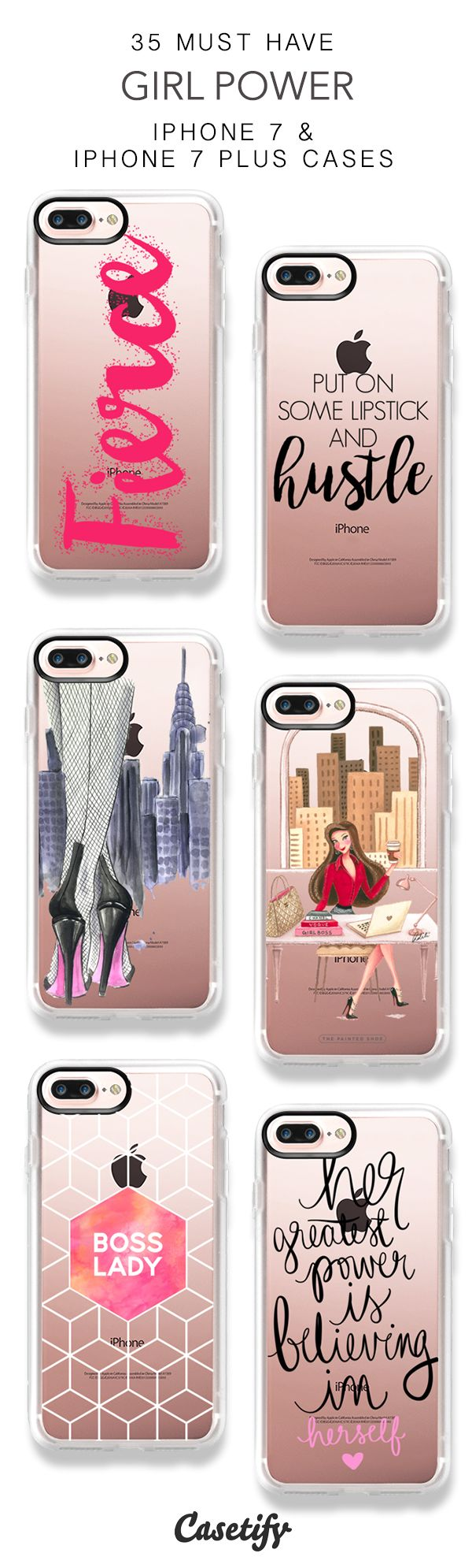 35 Must Have Girl Power iPhone 7 Cases and iPhone 7 Plus Cases. More Women iPhone case here > https://www.casetify.com/collections/top_100_designs#/?vc=9heVycyoOv