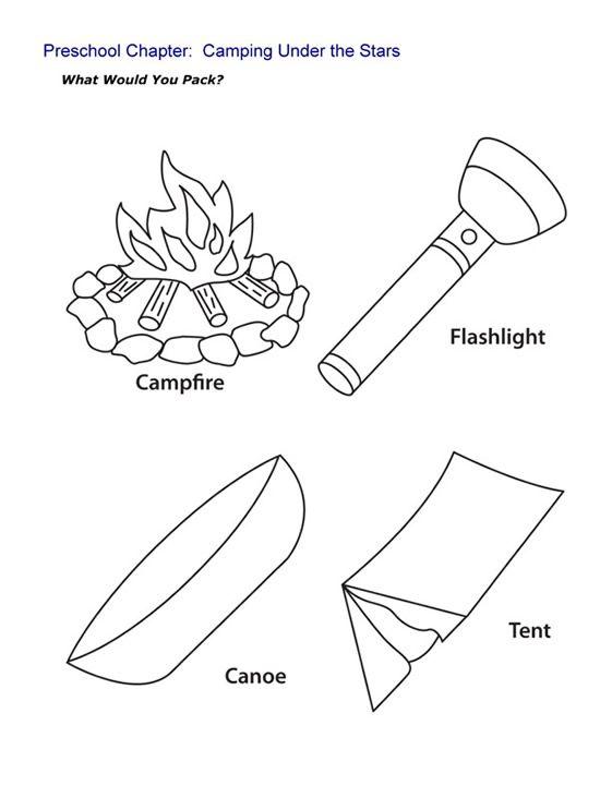 Camping Worksheets For Preschoolers : Preschool flashlight craft google search camping unit