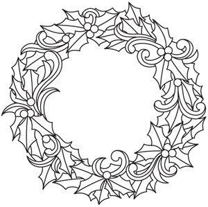 Yuletide Elegance Wreath design (UTH5477) from UrbanThreads.com