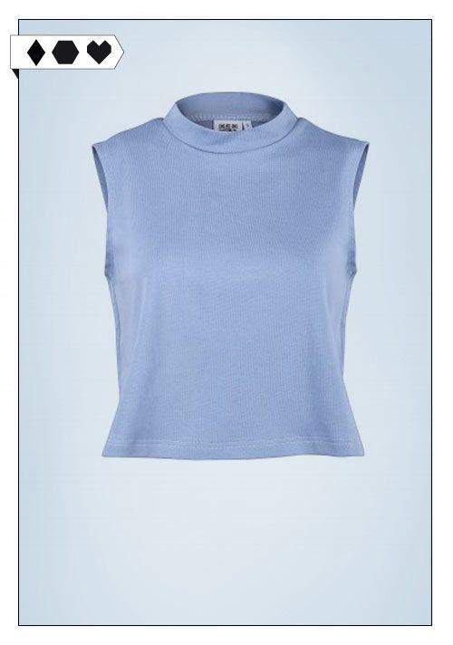 Quinn Blue Top (Jan N June): 96% Organic Cotton; 4% Elasthan-Jersey-Rib. Fair hergestellt in Polen. VEGAN/ECO/SOCIAL/*35€*