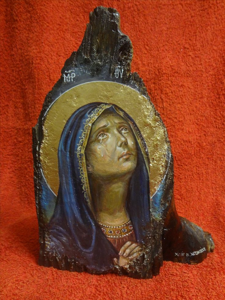 Virgin Mary Panagia orthodox icon.