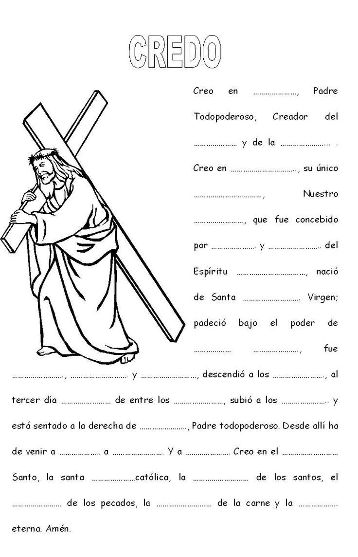 M s de 25 ideas incre bles sobre el credo catolico en for Actividades con cartulina para ninos