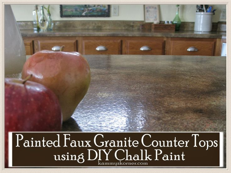 Countertop Chalk Paint : ... Chalk Paint} Do It Yourself Today Pinterest Countertops, New