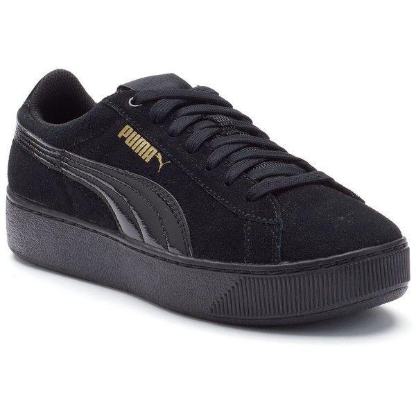 puma shoes suede black. puma vikky platform women\u0027s suede shoes (£56) ❤ liked on polyvore featuring puma black