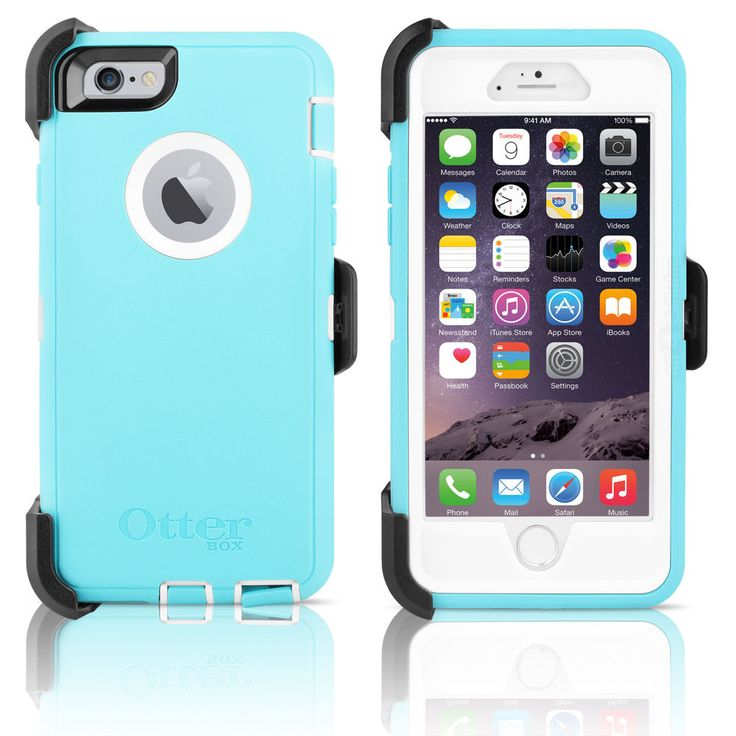 "OtterBox Defender iPhone 6 4.7"" Case & Holster Ocean Mist Blue / White OEM New in Cell Phones & Accessories, Cell Phone Accessories, Cases, Covers & Skins 