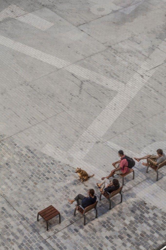 Born Market | Vora arquitectura | La Ribera, Barcelona | 2014 | pavers define the location of the ancient streets of the 17th century city