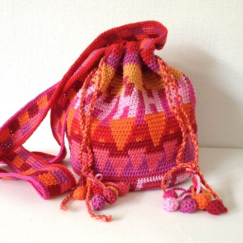crochet bag sunset