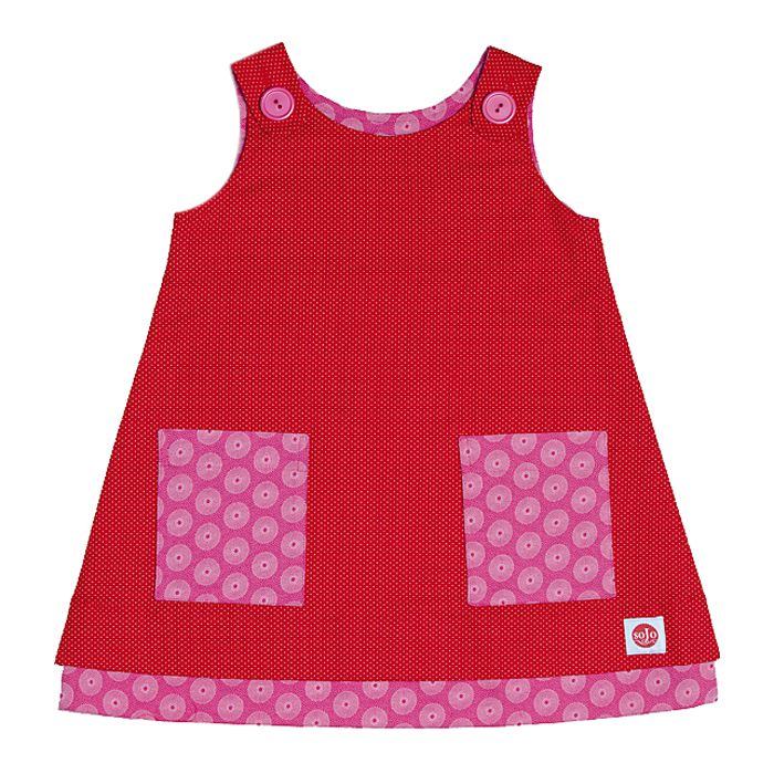 Button Tunic Red & Pink - Sojo
