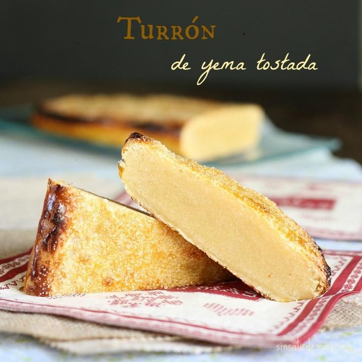 SIN SALIR DE MI COCINA: TURRON DE YEMA TOSTADA