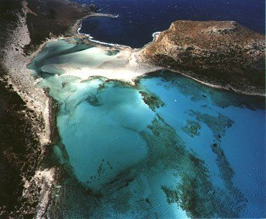 Aerophotography of Gramvousa and Balos, Chania, Greece