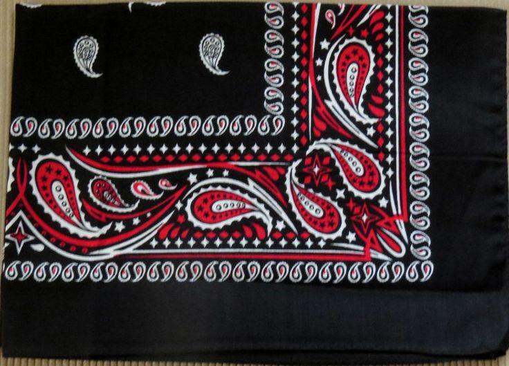 Paisley Bandana 100 Cotton Hair Styling Handkerchief