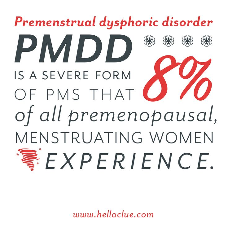premenstrual dysphoric disorder A person with premenstrual dysphoric disorder undergoes rapid changes in mood, is highly irritable and is generally dissatisfied with life find the.