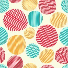 Circles - Geometric Vector Repeat Pattern by Barbie Mc Guire Seamless Repeat Vector Royalty-Free Stock Pattern