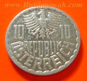 10 Groschen Austrian coin from 1997