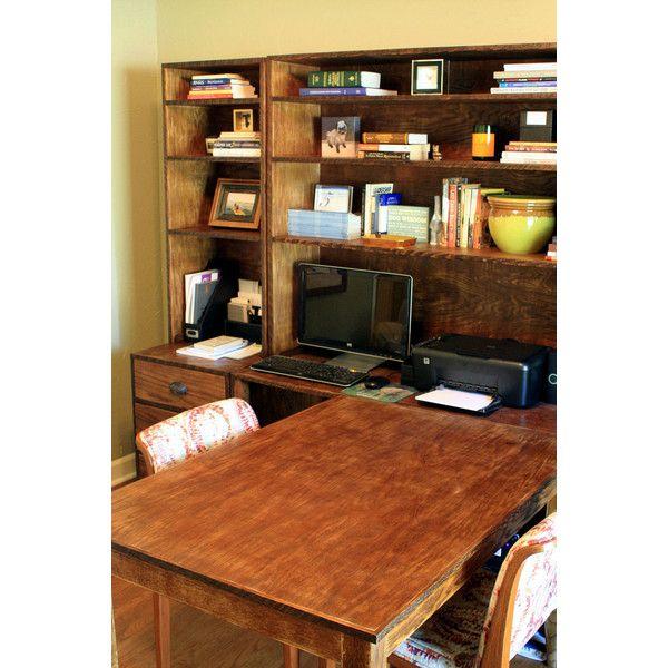 Modular Office Desk Custom Furniture Home EUR241 Liked On Polyvore Featuring Desks Brown Living