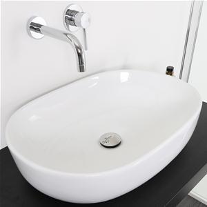 Bacinella lavabo d'appoggio in ceramica 60x40 design d'arredo