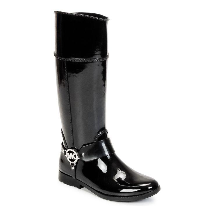 Bottes de pluie MICHAEL Michael Kors FULTON HARNESS TALL RAINBOOT Noir prix promo Bottes de pluie Femme Spartoo 129.00 €