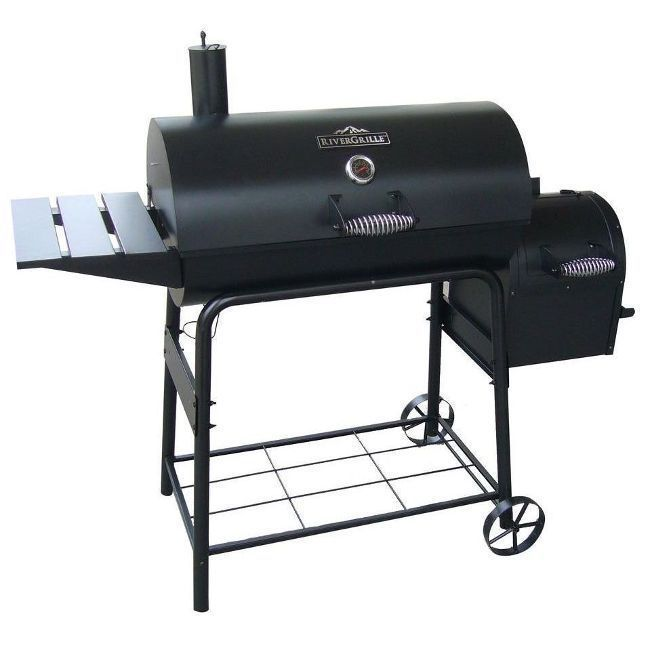 Large Charcoal Grill Smoker Outdoor Portable Barbecue Offset Barrel BBQ Cooking #charcoalgrill #smokergrill #largegrill #bbqgrill #portablegrill