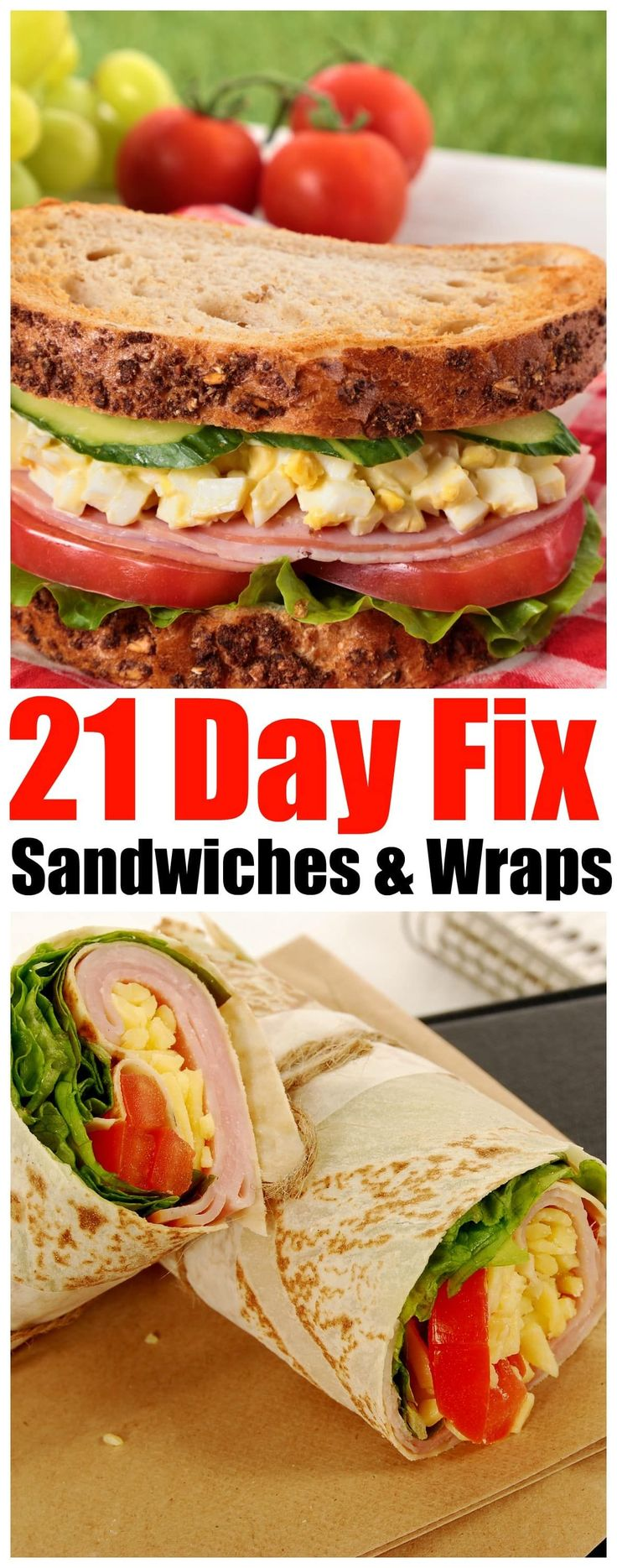 21 Day Fix sandwiches and wraps - Forget Takeout! Eat Easy and Delicious 21-Day Fix Sandwiches that you can make Every Day - dont be tempted to fall off the 21-Day Fix Challenge