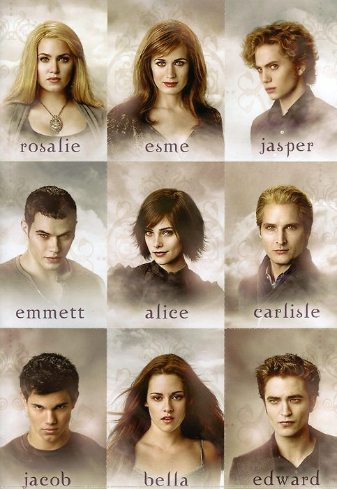 The Twilight Saga: the Cullen family & Jacob Black