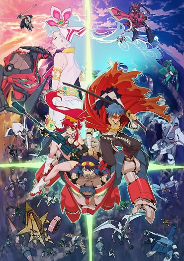 Gurren Lagann _--_--_ There is too many weird collage-ish type art for Gurren Lagann (Including the above)