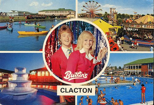 Butlins+Clacton+Multiview+Postcard