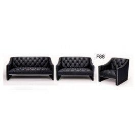 F88 Full Italian Leather Sofa Set - 3150.0000