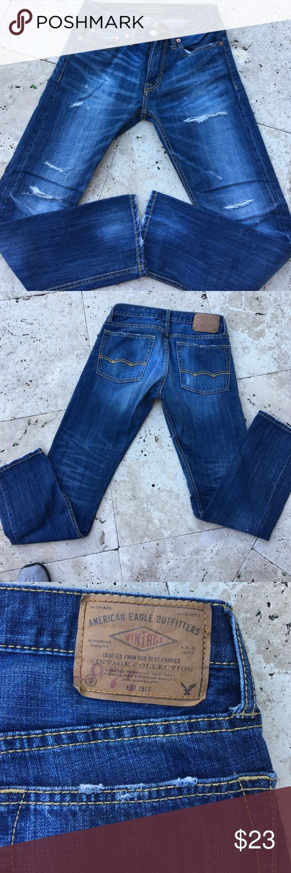 Men's American eagle Jean Men's American eagle distressed Jean.  Never worn but no tags. American Eagle Outfitters Jeans Slim