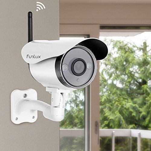 Funlux 720P HD Wireless Surveillance Camera Wifi Outdoor Security Camera  Remote Set Up in Seconds