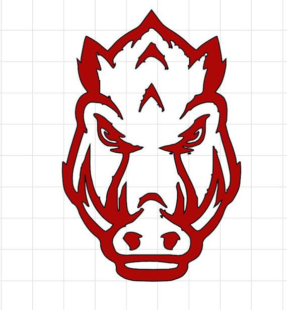 Arkansas Razorbacks Decal by SewTotesJelly on Etsy