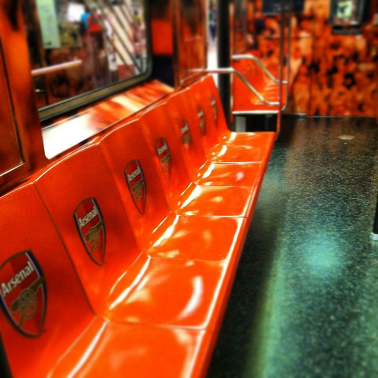 NYC subway Arsenal FC  24/08/13
