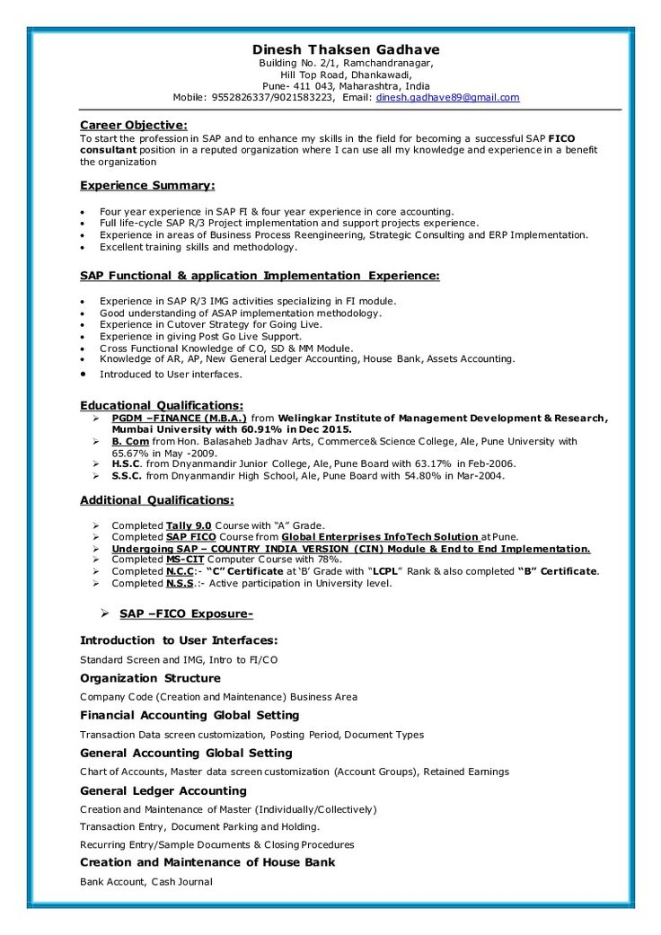 Sap Mm Super User Resume - Submission specialist