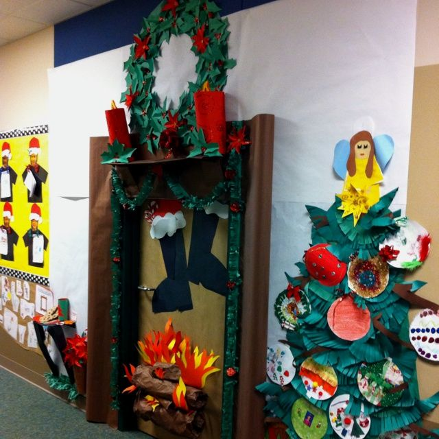 Classroom Wall Decorations For Christmas ~ Best christmas classroom door ideas on pinterest
