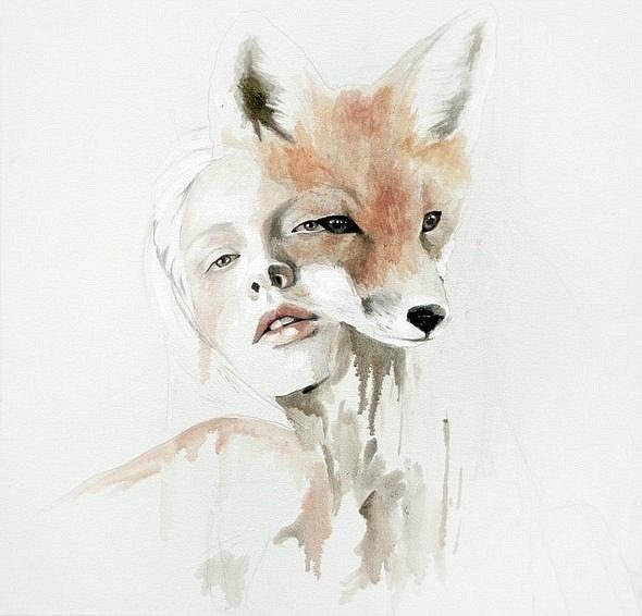 Fox girly illustration www.gngmagazine.co.uk