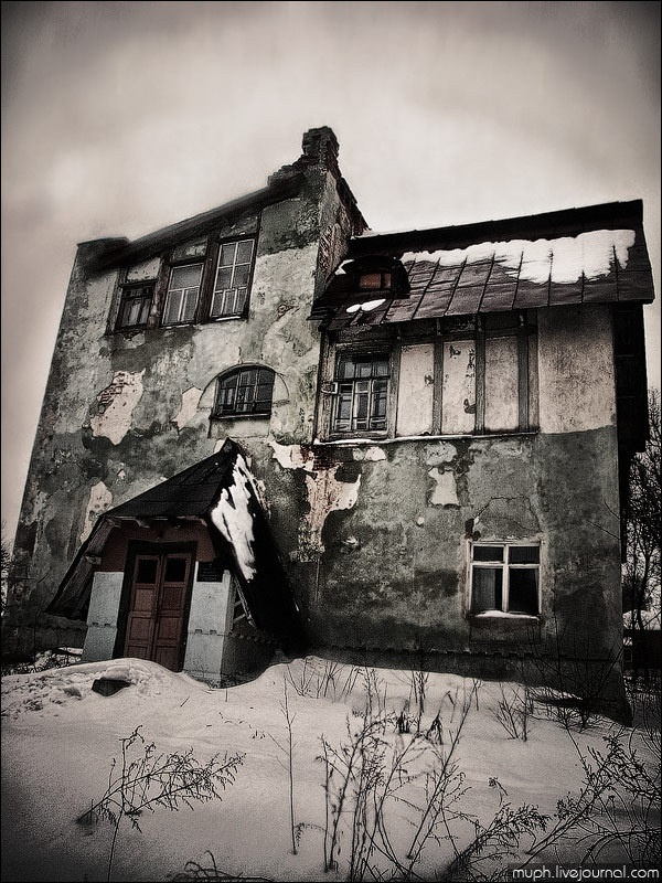 abandoned hospital in Russia