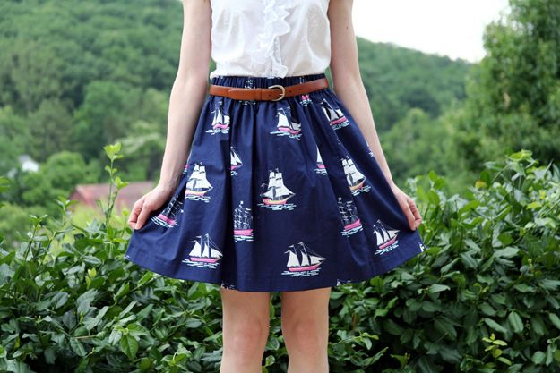 Sew: A Nautical Skirt // Caught On A Whim Blog