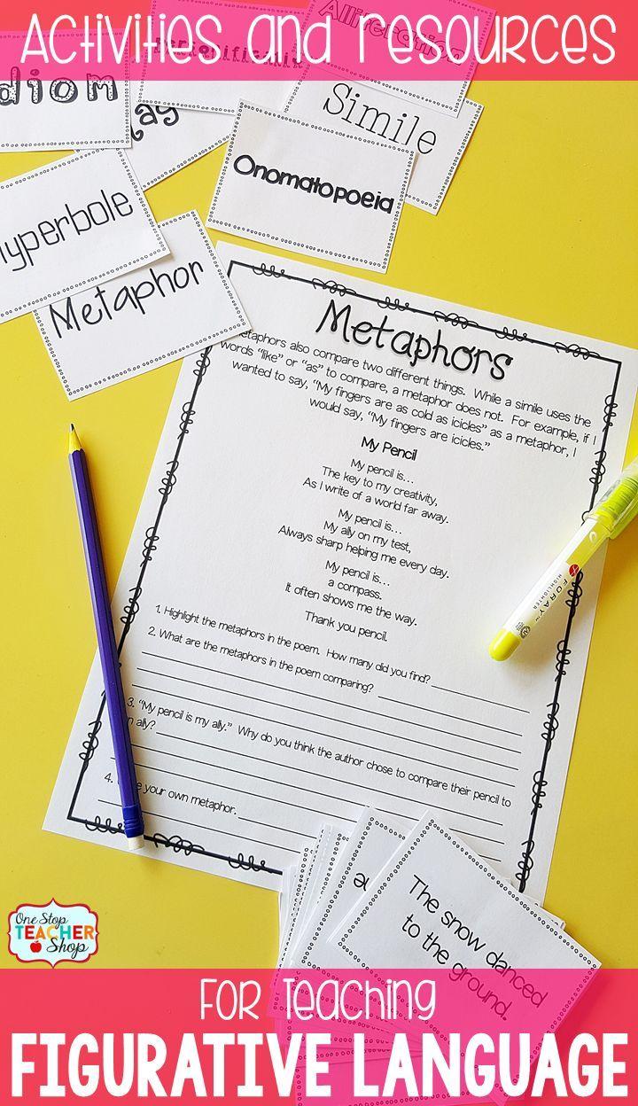 math worksheet : 52 best figurative language metaphors  similes images on  : What Is A Metaphor Math Worksheet