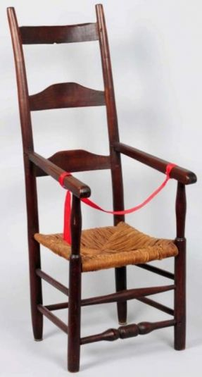 What's a Ladder-Back or Slat-Back Chair?: Ladder Back Side Chair Example