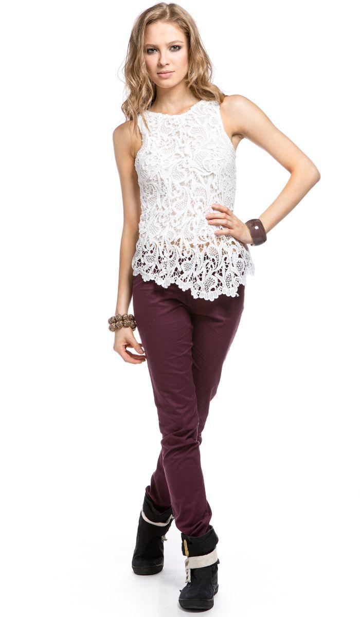 Белая майка женская кружевная, woman white shirt, lace shirt/ 1120 рублей