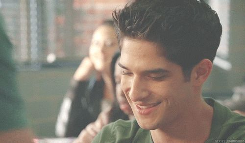 Even Coach is mesmerized by that smile. | Community Post: 12 Very Important GIFs Of Tyler Posey Smiling