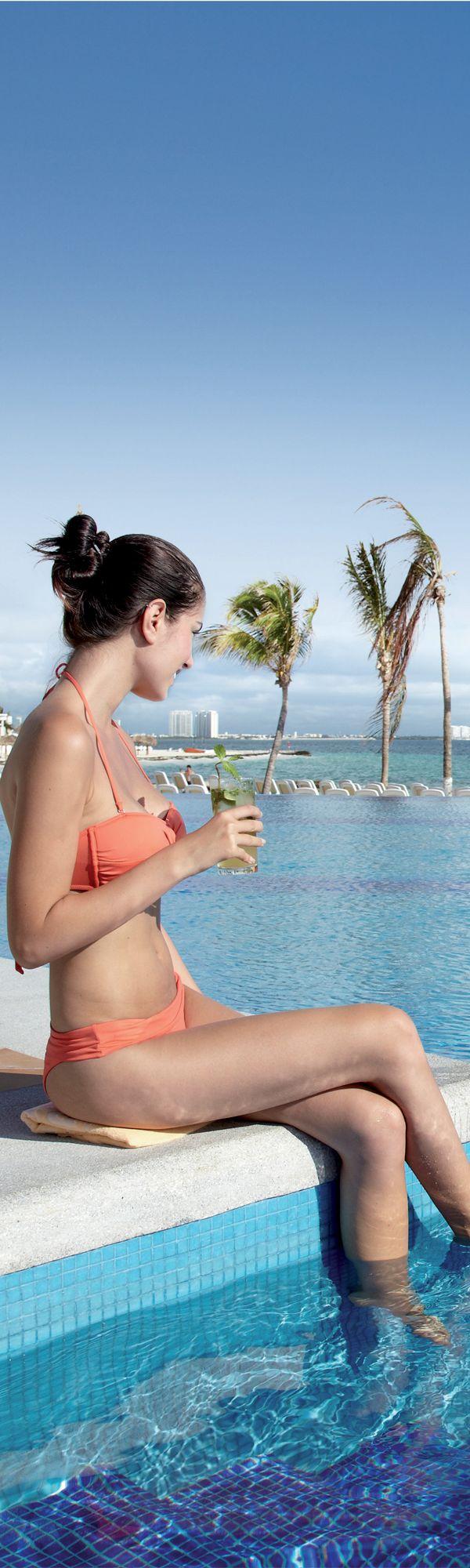 Cozumel beach bikinis