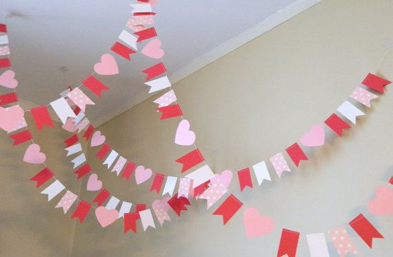 Paper Garland/ Valentines Garland/ by anyoccasionbanners on Etsy, $12.50 So cute for Valentines day!!