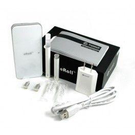 Le Kit cigarette éléctronique eRoll est la nouveauté de Joyetech. Il a la particularité de se recharger dans son petit boitier. Le vapoteur peut ainsi l'emmener partout. Grâce à sa batterie automatique, plus besoin d'appuyer sur le bouton, il suffit d'aspirer tout simplement. Noir ou Blanche