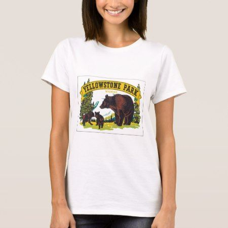 Vintage Yellowstone Park WY Travel Poster Art T-Shirt - tap, personalize, buy right now!