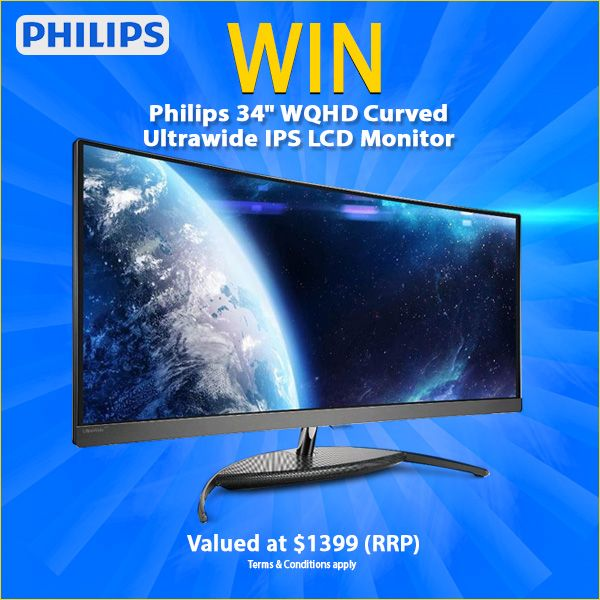 "WIN a Philips BDM3490UC 34"" WQHD Curved Ultrawide IPS LCD Monitor https://wn.nr/yjHg6p"