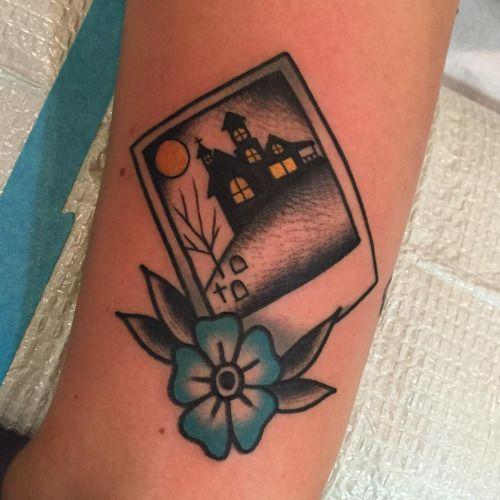 Josh Barg Tattoo, Michigan Ooohhhh spooky. #tattoo #polaroid #halloween…